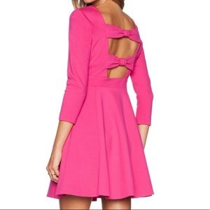 kate spade Fancy Meeting You Pink Bow Back Dress